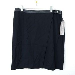 Jones NY wrap mini Skirt Sz 14 black